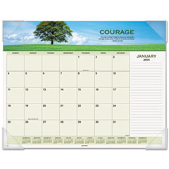 AT-A-GLANCE Recycled Motivational Panoramic Monthly Desk Pad, 22 x 17, 2015