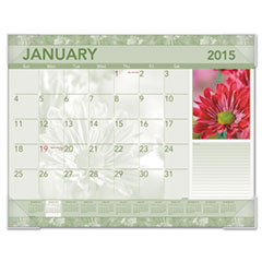 AT-A-GLANCE Antique Floral Monthly Desk Pad Calendar, 22 x 17, Antique Floral, 2016