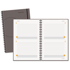 AT-A-GLANCE Two-Days-Per-Page Planning Notebook, Gray, 6
