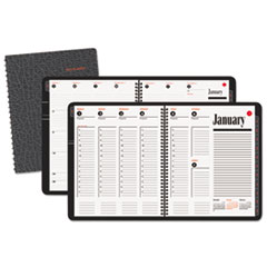 AT-A-GLANCE Recycled 800 Range Weekly/Monthly Appointment Book, 8-1/2 x 11, Black, 2015