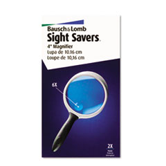 Bausch & Lomb 2X - 4X Round Handheld Magnifier w/Acrylic Lens, 4