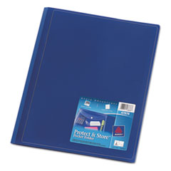 Avery Two-Pocket Folder, Sealed Envelope with Clasp, Navy, 3/Pack