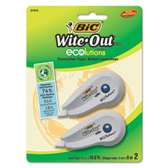 BIC Wite-Out Ecolutions Mini Correction Tape, White, 1/5