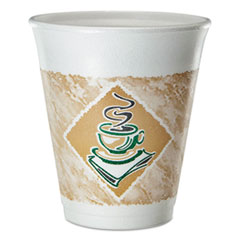 DCC 8X8GPK Dart® Café G® Foam Hot/Cold Cups DCC8X8GPK