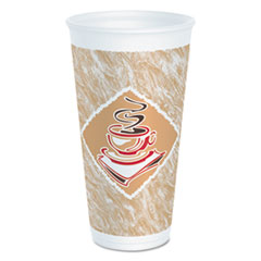 DCC 20X16GPK Dart Café G Foam Hot/Cold Cups DCC20X16GPK