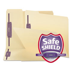 Smead SafeSHIELD Fastener Folders, Manila, Two Inch Capacity, Letter, 50/Box