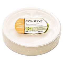 Baumgartens Conserve Sugar Cane 3 Compartment Plate, 10 1/4