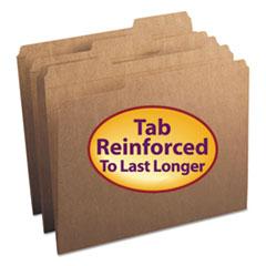 Smead Kraft File Folders, 1/3 Cut, Reinforced Top Tab, Letter, Kraft, 100/Box