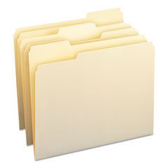 Smead File Folders, 1/3 Cut Assorted, One-Ply Top Tab, Letter, Manila, 100/Box
