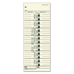 TOPS Time Card for Acroprint, IBM, Lathem and Simplex, Weekly, 3-1/2 x 9, 500/Box