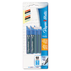 Paper Mate Lead Refills, 0.5mm, HB, Black, 3 Tubes of 35, 105/Pack