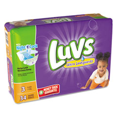Luvs® DIAPERS LUVS S3 4-34CT DIAPERS, SIZE 3: 16 LBS TO 28 LBS, 34-PACK, 4 PACK-CARTON