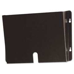 Buddy Products Deep Steel Wall Pocket for Medical Records, Letter, Black