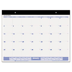 AT-A-GLANCE Desk Pad, 22 x 17, White, 2016