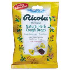 Ricola® FIRST AID RICOLA NATURALH Cough Drops, Natural Herb, 21 Drops-bag