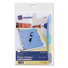 Avery Multicolor Write-On Dividers, 5-Tab, 8-1/2 x 5-1/2, 1 Set