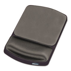 Fellowes Gel Mouse Pad w/Wrist Rest, Nonskid, 6-1/4 x 10-1/8, Platinum/Graphite