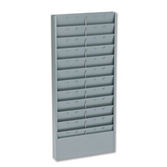 Buddy Products Adjustable 11- Or 22-Pocket Time Card Rack, Textured Steel, Gray