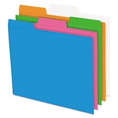 PFX 40528 Pendaflex Glow Poly File Folders PFX40528