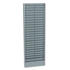 Buddy Products Adjustable 24-, 48- Or 72-Pocket Time Card Rack, Textured Steel, Gray