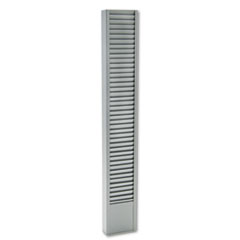 Buddy Products 40-Pocket Badge Holder Rack, Vertical, Recycled Steel, Platinum