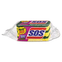 S.O.S. Heavy Duty Scrubber Sponge, 3/Pk, 2 1/2 x 4 1/2, .9