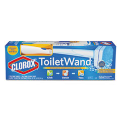 Clorox Toilet Wand Kit: Wand, Storage Caddy & 6 Refill Heads, White