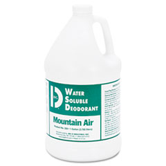 Big D Industries Water-Soluble Deodorant, Mountain Air, 1gal, 4/Carton