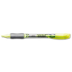 BIC Brite Liner + Highlighter, Chisel Tip, Fluorescent Yellow Ink