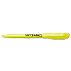 BIC Brite Liner Highlighter, Chisel Tip, Fluorescent Yellow Ink, 1 Dozen