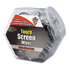 Dust-Off Touch Screen Wipes, 5 x 6, 200 Individual Foil Packets