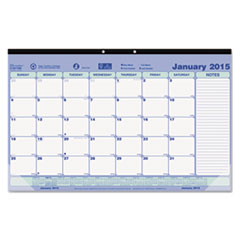 Brownline Monthly Desk Pad Calendar, 17-3/4 x 10-7/8, 2015