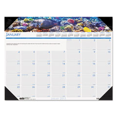 House of Doolittle Sea Life Photographic Monthly Desk Pad Calendar, 22 x 17, 2015