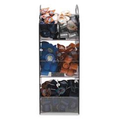 Vertiflex Compact Condiment Organizer, 6 1/8w x 8d x 18h, Black
