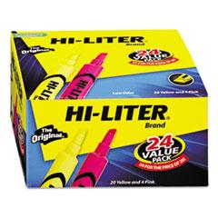 HI-LITER Desk Style Highlighter, Chisel, Assorted Colors, 24/Pack