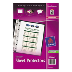 Avery Top Load Sheet Protector, Heavyweight, 8 1/2 x 5 1/2, Clear, 25/Pack