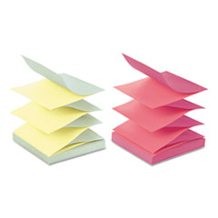 Post-it Pop-up Notes Pop-up Refill, 4 Alternating Marseille Colors, 3 x 3, 100/Pad, 12 Pads/Pack