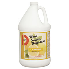 Big D Industries Water-Soluble Deodorant, Lemon Scent, 1gal Bottles, 4/Carton
