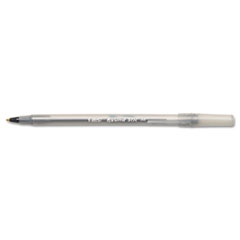 BIC Round Stic Ballpoint Stick Pen, Black Ink, Medium, Dozen