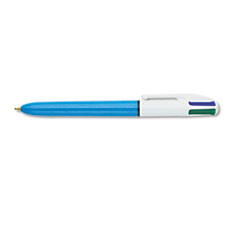 BIC 4-Color Ballpoint Retractable Pen, Assorted Ink, Medium