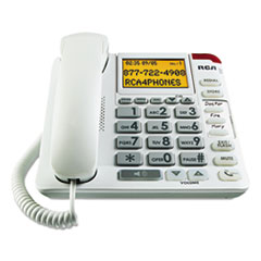 RCA 11241WTGA RCA 11241WTGA One-Line Amplified Big Button Corded Phone RCA11241WTGA