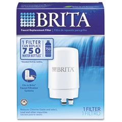 Brita On-Tap Faucet Water Filter System Replacement Filters, White