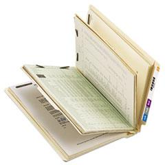 Smead Manila End Tab Classification Folders, Letter, Six-Section, 10/Box