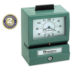 Acroprint Model 125 Analog Manual Print Time Clock with Date/0-23 Hours/Minutes