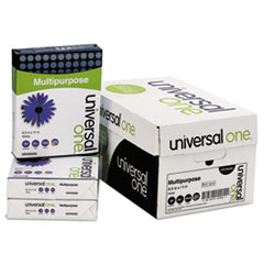 Universal One Multipurpose Paper, 98 Brightness, 20lb, 8-1/2 x 11, Bright White, 5000 Shts/Ctn