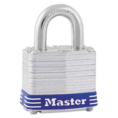 Master Lock Four-Pin Tumbler Lock, Laminated Steel Body, 1 9/16