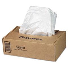 Fellowes® BAG AUTOMAX 500C 300C CLR SHREDDER WASTE BAGS, 16-20 GAL CAPACITY, 50-CARTON