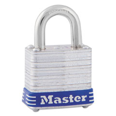Master Lock Four-Pin Tumbler Lock, Laminated Steel Body, 1 1/8