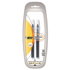 BIC Triumph Roller Ball Refill, 0.5 mm, Black