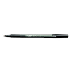 BIC Soft Feel Ballpoint Stick Pen, Black Ink, Medium, Dozen
